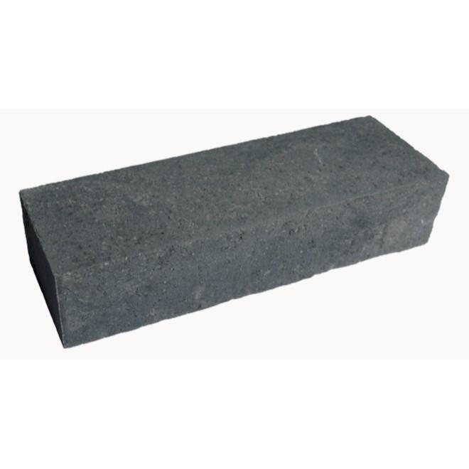 Bloc pour muret de jardin en béton, 18'' x 6'', charbon