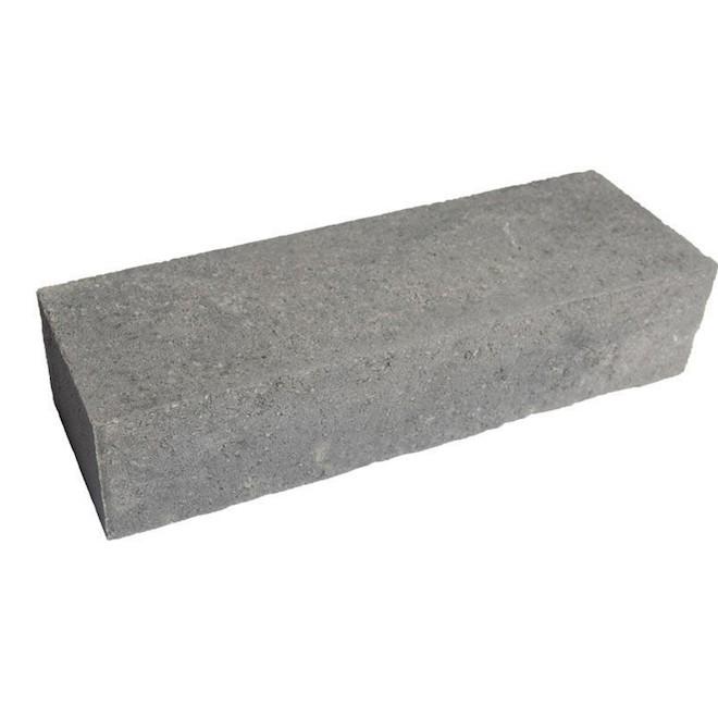 Bloc pour muret de jardin en béton, 18'' x 6'', gris charbon