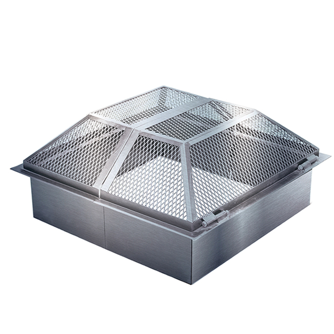 Patio Drummond Moderno/Urbania Fireguard - Stainless Steel 6-in x 34-in x 34-in Black