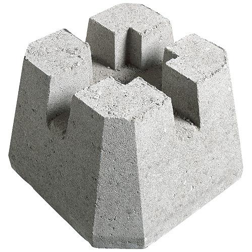 """Bloc pour terrasse à 4 ouvertures, poteaux de 4"""", béton"""