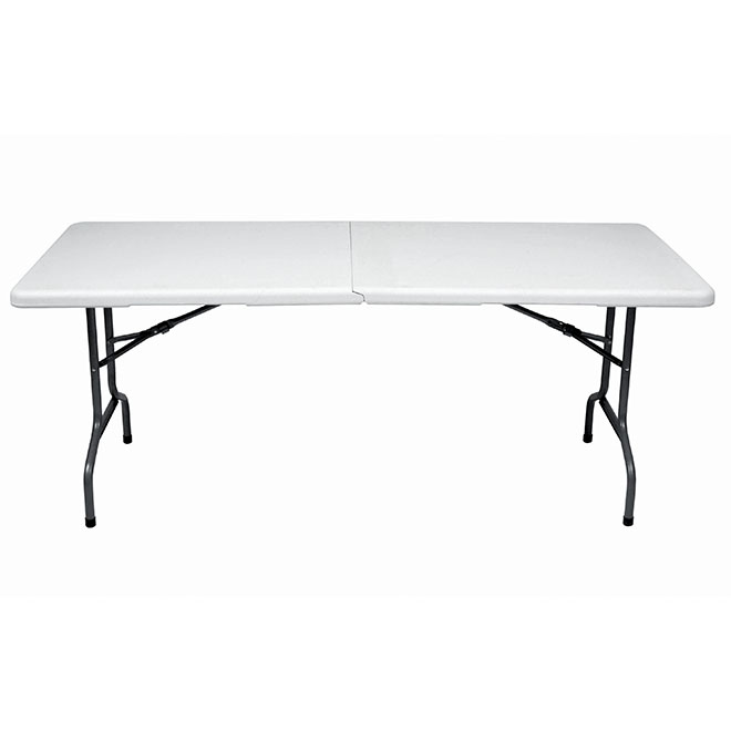 Gsc Technology Folding Table Plastic And Steel 30 X 72 White
