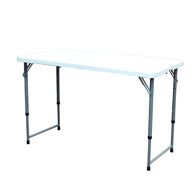 GSC Folding Table - Steel and Plastic - 24'' x 48'' - White