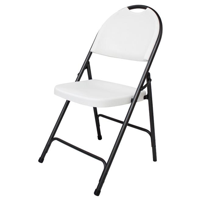 Folding Chair - Resin - White