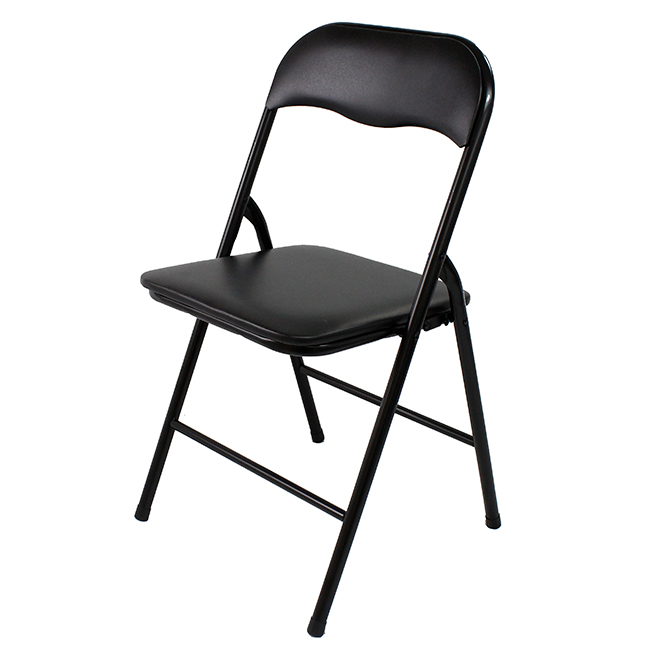 "Enduro(TM) Vinyl Folding Chair - 17.3"" x 17"" x 31"" - Black"