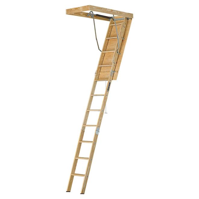 Attic Wood Ladder