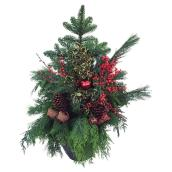 Devry Greenhouse - Greenery Holiday Arrangement - 12-in - Assorted