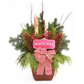 Natural Floral Holiday Arrangement - Decorative Planter
