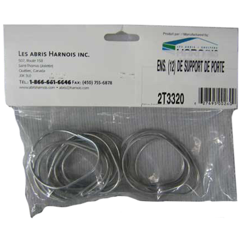 Abris Harnois Door Holder - 12 Pack - Metal Hooks - For Temporary Car Shelters