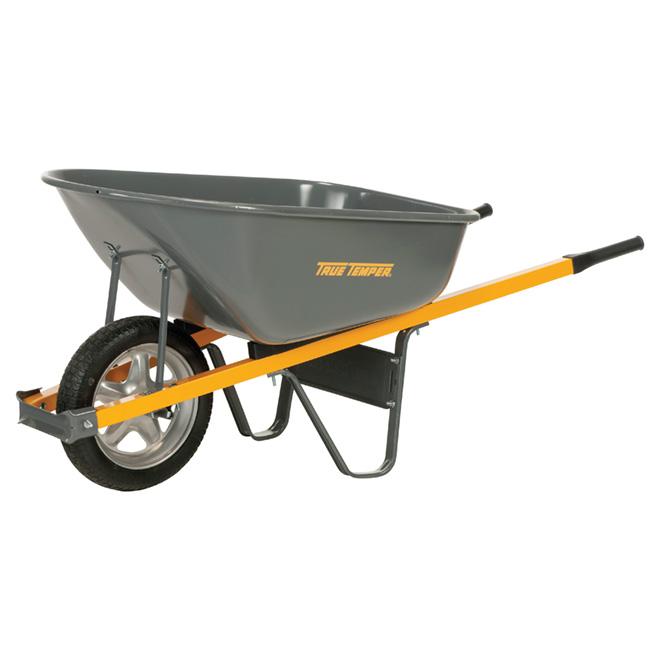 "Steel Wheelbarrow - 16"" Never Flat Tire - 6 cu. ft."