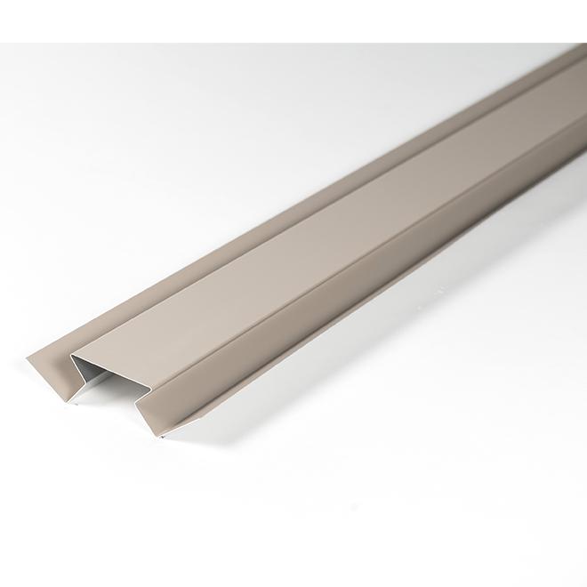 Aluminum Interior Corner Trim - 10' - Khaki