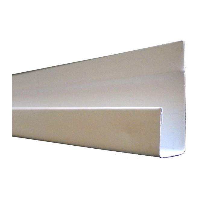 "Aluminum ''J'' Moulding - 1/2"" x 10' - White"