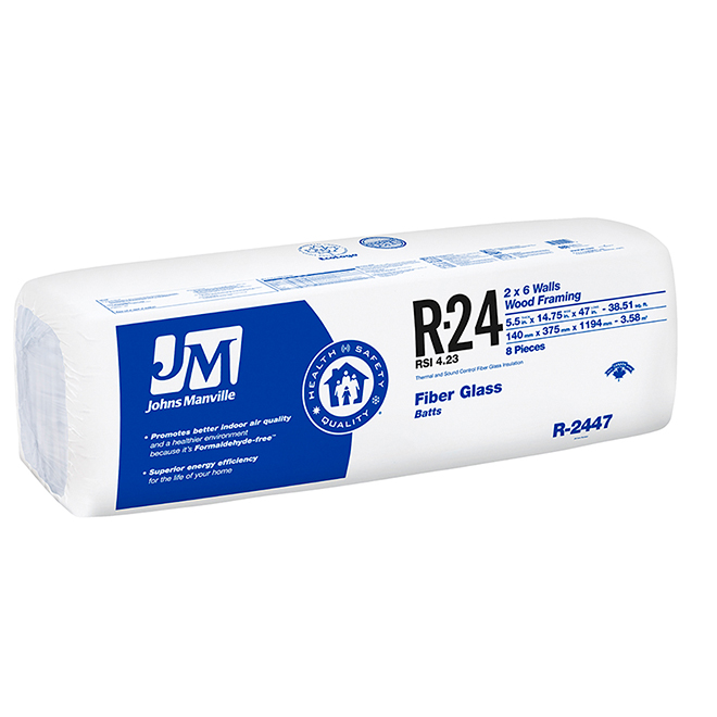 JOHNS MANVILLE Fiberglass Insulation R24 - 38,52 sq ft  90015998 | RONA