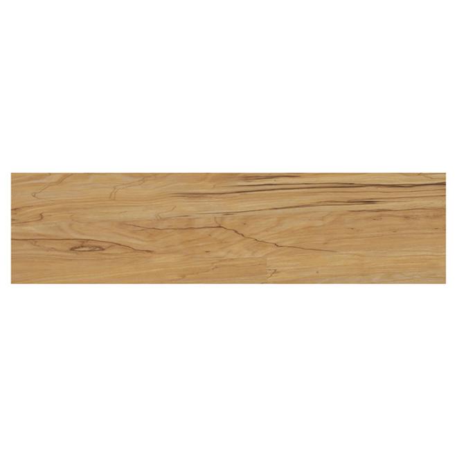 Lamelles en vinyle pour plancher, érable, 6 mm, 15,11 pi²
