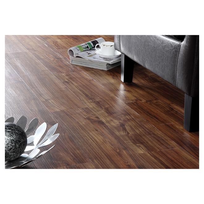 Lamelles en vinyle pour plancher, chocolat, 6 mm, 15,11 pi²