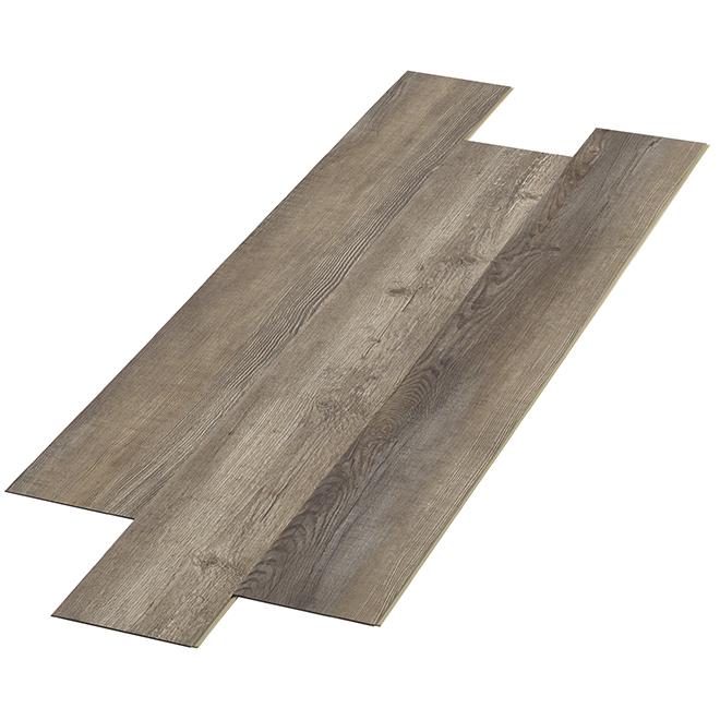 Lamelles de vinyle imperméable d'aspect bois pour salles de bain résidentielles et commerciales Taiga Building, Baltique