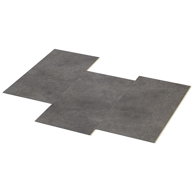 Couvre-plancher en vinyle imperméable pour salle de bain 7 mm de Taiga Building Products