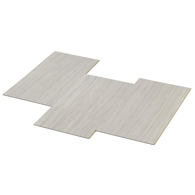 Carreaux pour plancher résidentiel en vinyle couleur Travertine de Taiga Building Products, 7 mm