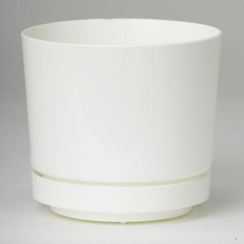 Pot et soucoupe Blanc