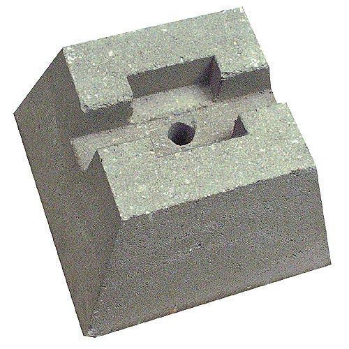 Bloc-terrasse en béton, 25 x 20 x 40 cm, gris