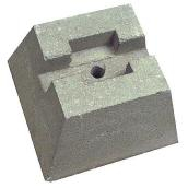 Concrete Deck Block - 25 x 20 x 40 cm - Grey