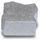 Demi-pavé Uni-Stone pour bordure, béton, gris
