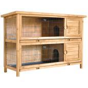 Clapier à lapins, Urban Burrows, QCHP-RH3, sapin, 2 lapins