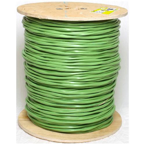 Fil de haut-parleur en cuivre/PVC, 300 m, calibre 12, vert