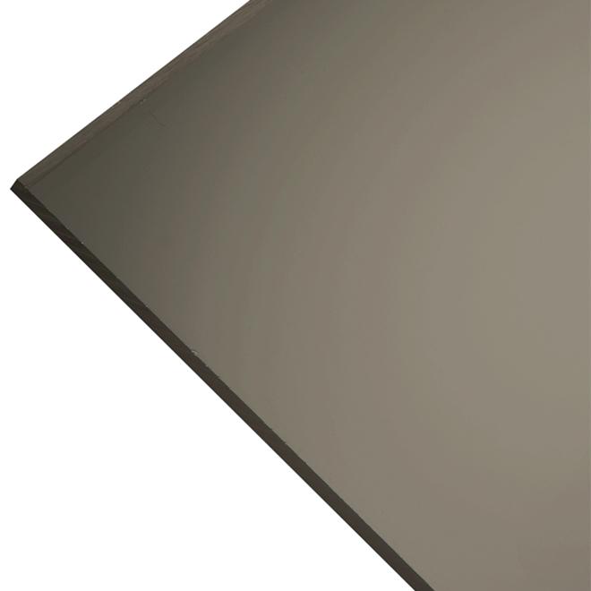 """Panneau en acrylique 3 mm, 18"""" x 36"""", bronze"""