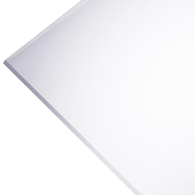 """Panneau en acrylique Optix 2,5 mm, 24"""" x 28"""", clair"""