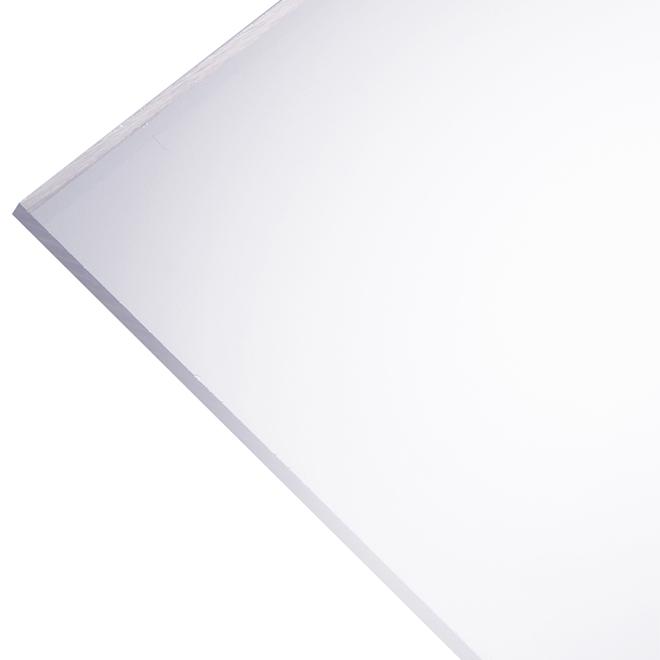 """Panneau en acrylique Optix 2,5 mm, 48"""" x 96"""", clair"""