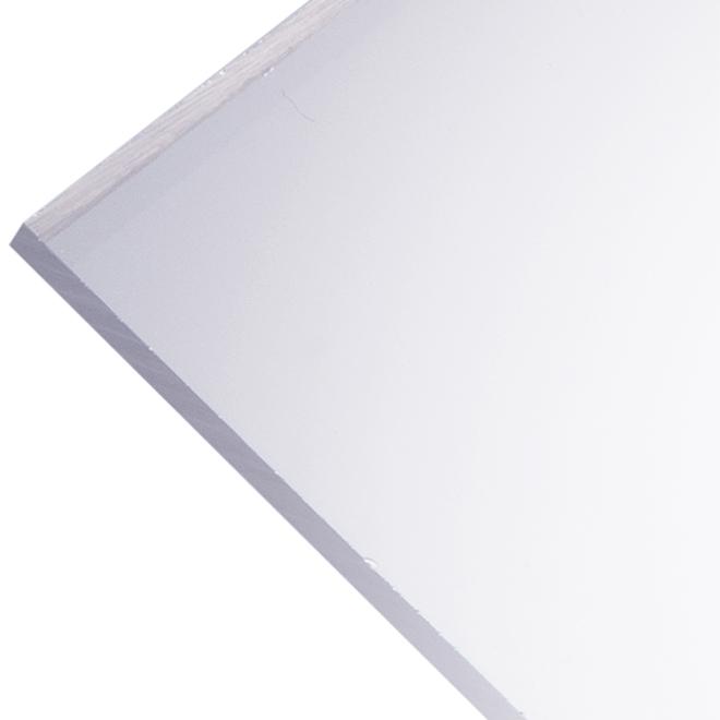 """Panneau en acrylique Optix 4,5 mm, 24"""" x 48"""", clair"""