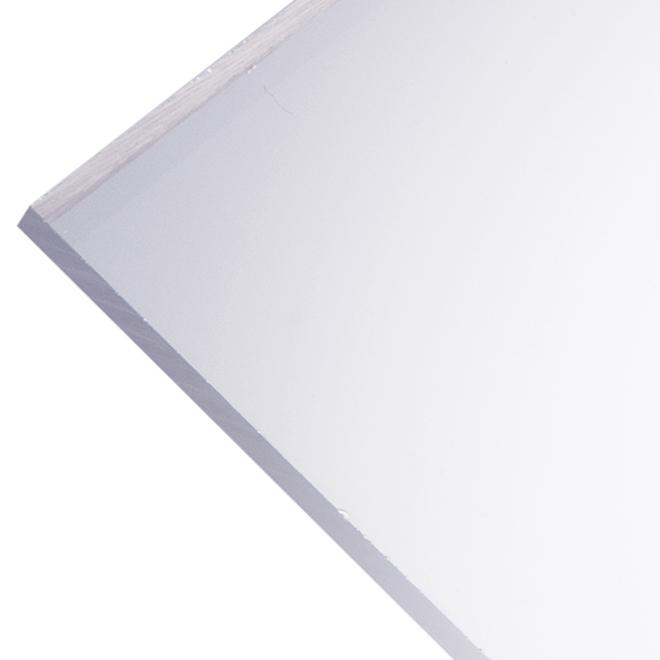 "Optix 4,5 mm Acrylic Panel - 48"" x 96"" - Clear"