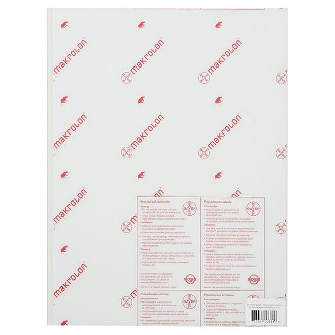 "Makrolon® Polycarbonate 3 mm Panel - 18"" x 24"" - Clear"