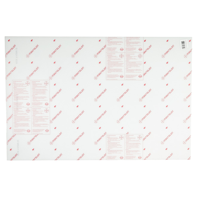 "Makrolon® Polycarbonate 3 mm Panel - 32"" x 48"" - Clear"