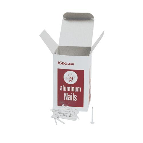 "Clous à parement en aluminium naturel, 1 1/2"", 1 lb"