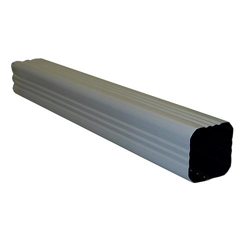 "Tuyau de renvoi carré en aluminium de 2 1/2"""