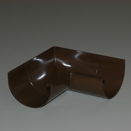 Plastmo  Classic  Brown  Vinyl  Half Round  Gutter Bracket