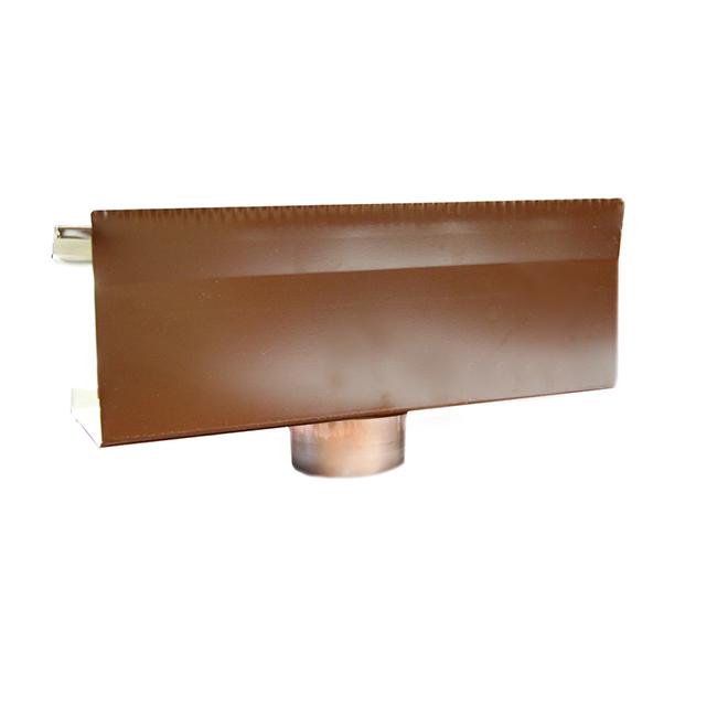 Descente pour gouttière en aluminium, boîte de 5, brun