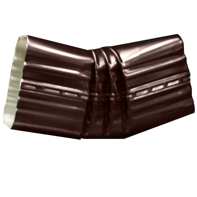 "Coude « B » avec angle de 30° en aluminium, 2'' x 3"", brun"