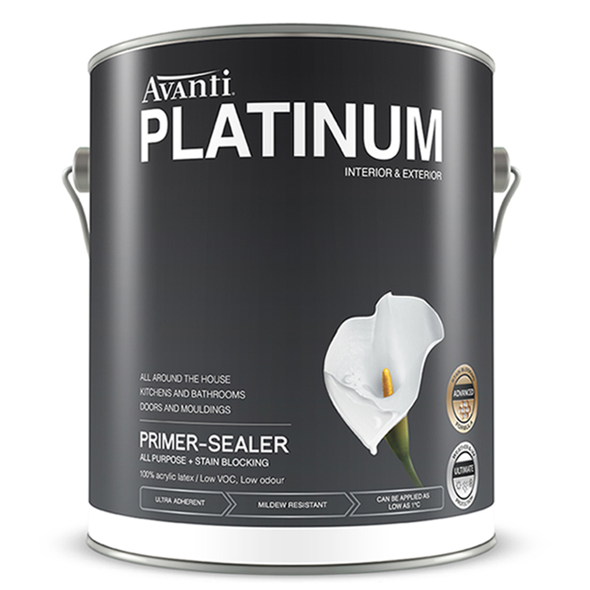 Avanti Platinum Latex Primer-Sealer - 3.78 L - White