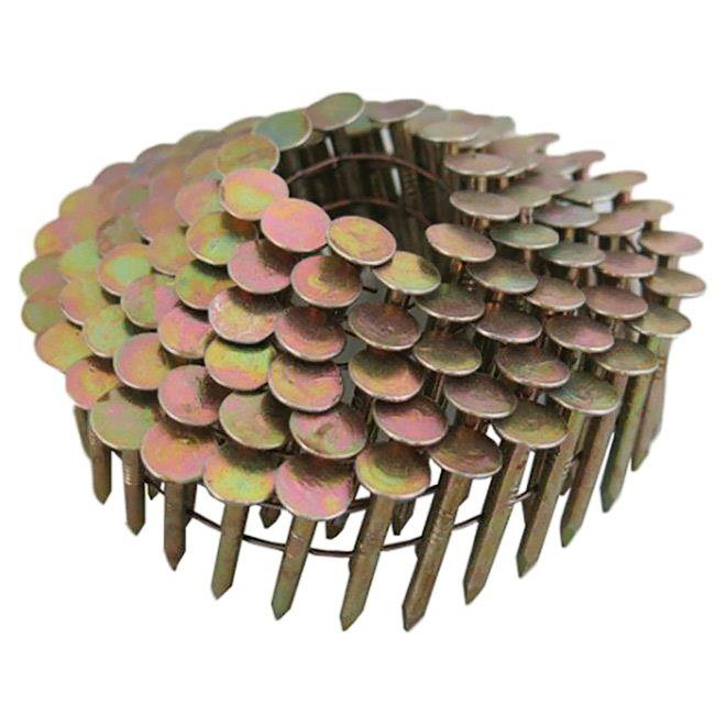 "Roofing Nails - Coil - 1 1/4"" - 15° - 7200/Pk"