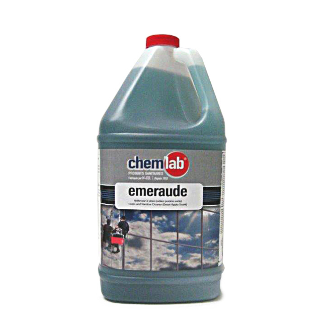 Chemlab Industrial Glass Cleaner - Green Apple Fragrance - Residue-Free - 4 L