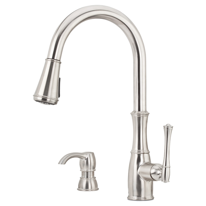 Pfister Pull Down Kitchen Faucet Wheaton F529 7whs Rona