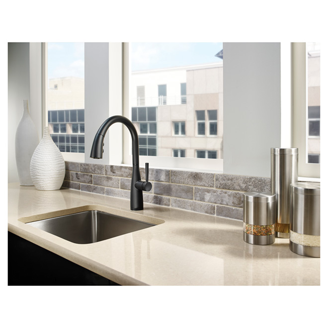 Pfister Raya Pull Out Kitchen Faucet 3 Spray Black F5297ryb Rona