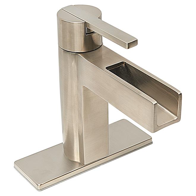 "Vega Bathroom Faucet -1 Handle - 4"" - Brushed Nickel"