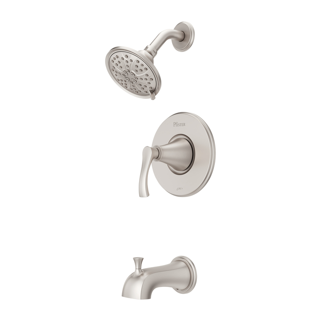 Pfister Auden Spot Defense Brushed Nickel 1-Handle Bathtub and Shower Faucet with Valve