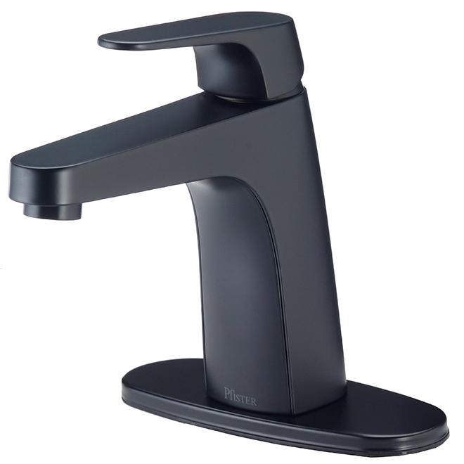Robinet de lavabo Matlock, 1 poignée, 4'', noir mat