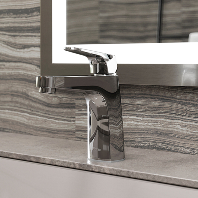 Robinet de lavabo Pfister Matlock, noir mat, 1 poignée, moderne