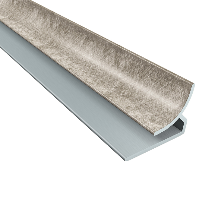 "Silver Inside Corner Trim 1/2"" x 18 x 1/2"""