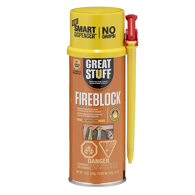 Insulating Foam - Fireblock - 12 oz. - Orange